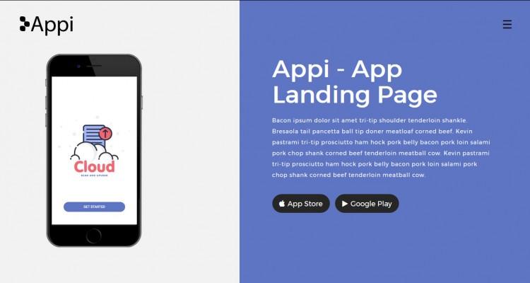 Appi - App Responsive Landing Page