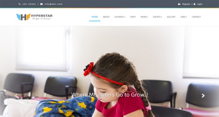 Hyperstar - Kindergarten School & College Multipage Responsive Website Template