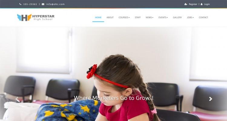 Hyperstar - Kindergarten School & College Multipage Responsive Website Template