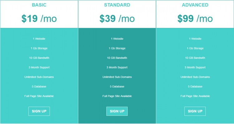 Enkel Bootstrap Pricing Table - Free Download
