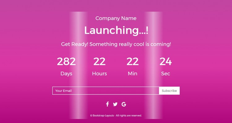 CM - Coming Soon Responsive Template