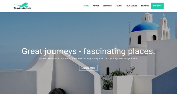 Travel Agent - Creative Travel Agency Responsive Landing Page