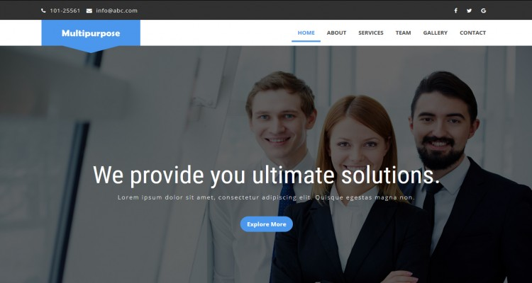 Digital Agency - Multipurpose Business Bootstrap Landing Page