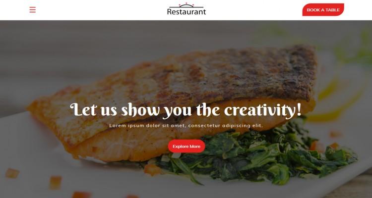 Restaurant - Bootstrap Responsive Landing Page