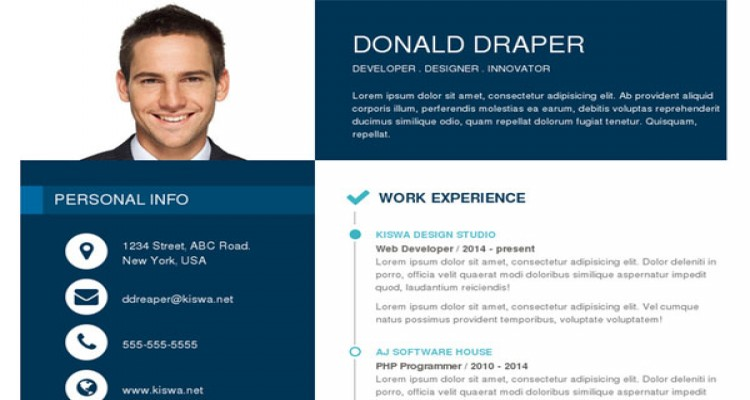 Simple - One Page Responsive Resume