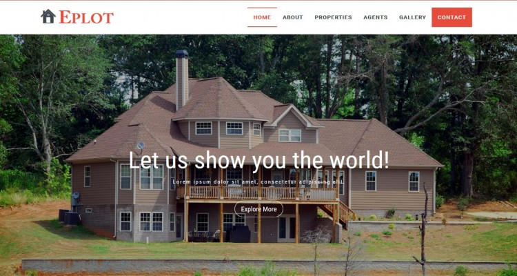 Eplot - Responsive Real Estate Landing Page Template