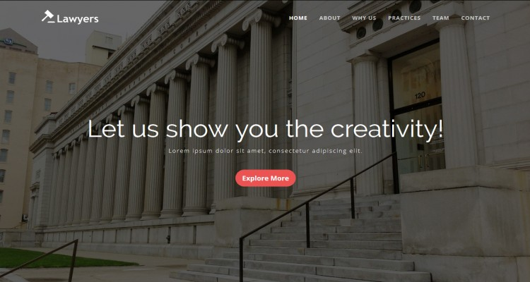 Law Firm and Attorney HTML5 Responsive Template