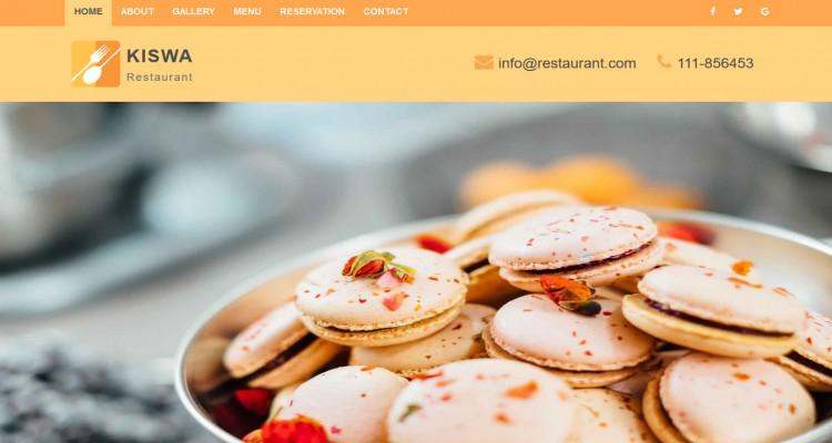Kiswa Restaurant - Fully Responsive HTML5 Landing Page