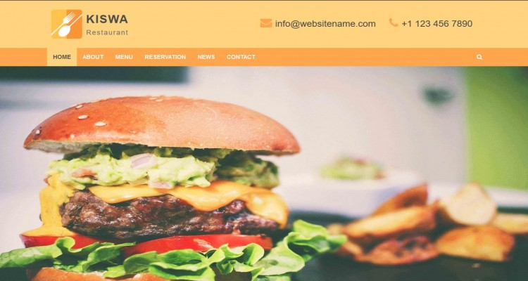 Kiswa Restaurant - Multipage and Landing Page Responsive HTML Template